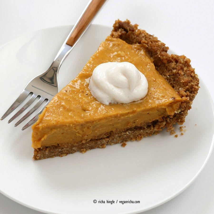 No Bake Vegan Pumpkin Pie With Gluten Free Gingerbread Crust Vegan Richa Recipe Vegan Pumpkin Pie Gluten Free Gingerbread Vegan Thanksgiving