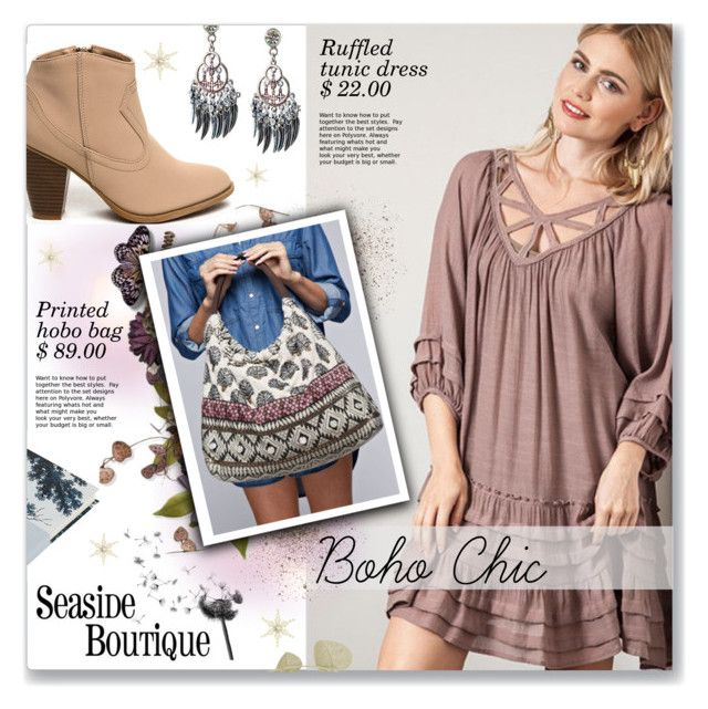 """""""Boho Chic"""" by seaside-boutique ❤ liked on Polyvore featuring Boho & Co, vintage, women's clothing, women's fashion, women, female, woman, misses and juniors"""