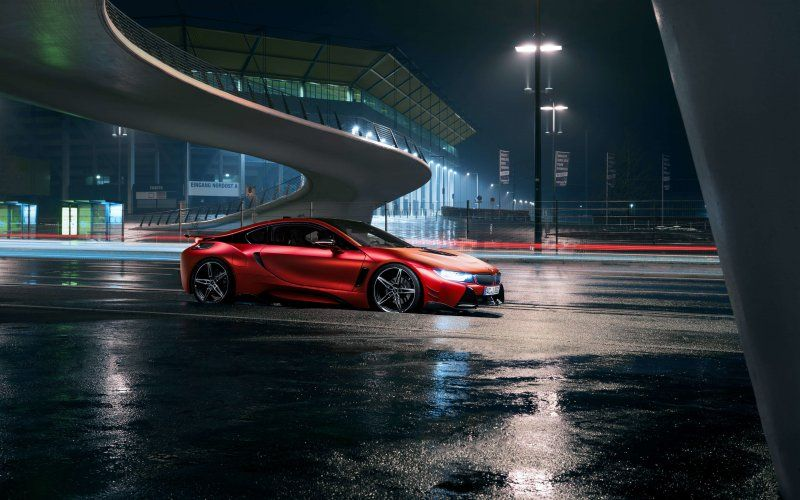 2018 Sports Car Night Red Bmw I8 Wallpaper Cars Wallpapers