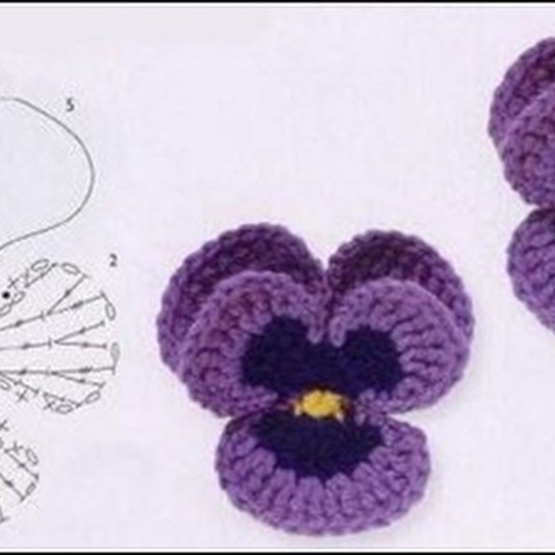 My Own Universe: How To Crochet Pansies, For Deb | Leaves, Flowers ...