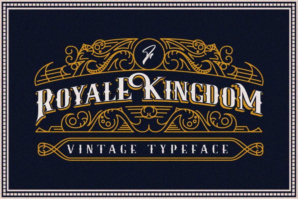 Free Download Royale Kingdom Regular Font Vintage Fonts Typeface Vintage Graphic Design