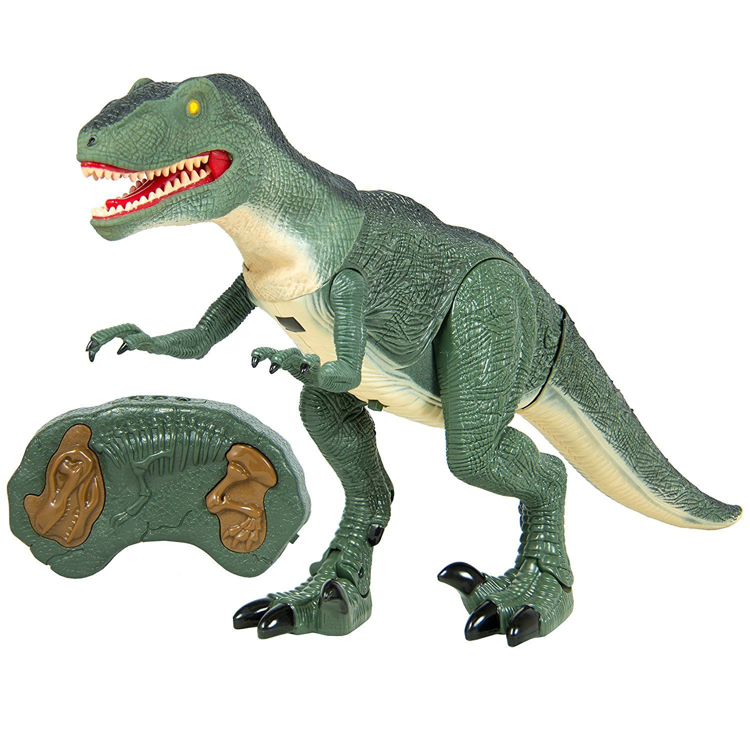 Fanbell Remote Control Velociraptor Rc Walking Dinosaur Lights And Sounds Kid Pet Toy Animal Click Image For More D Animals For Kids Dinosaur Toys Dinosaur