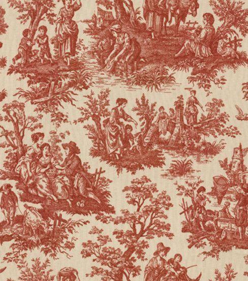 Waverly Home Decor Fabric Country Life Garnet Hi Res