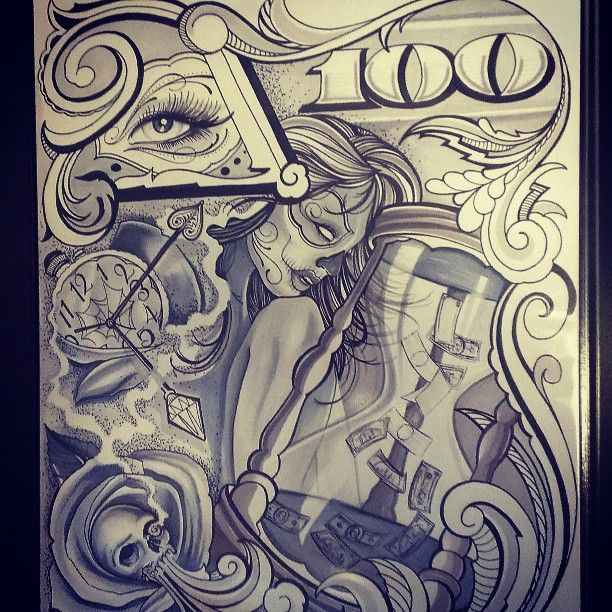 Chicano style tattoo on pinterest for Chicano tattoo art
