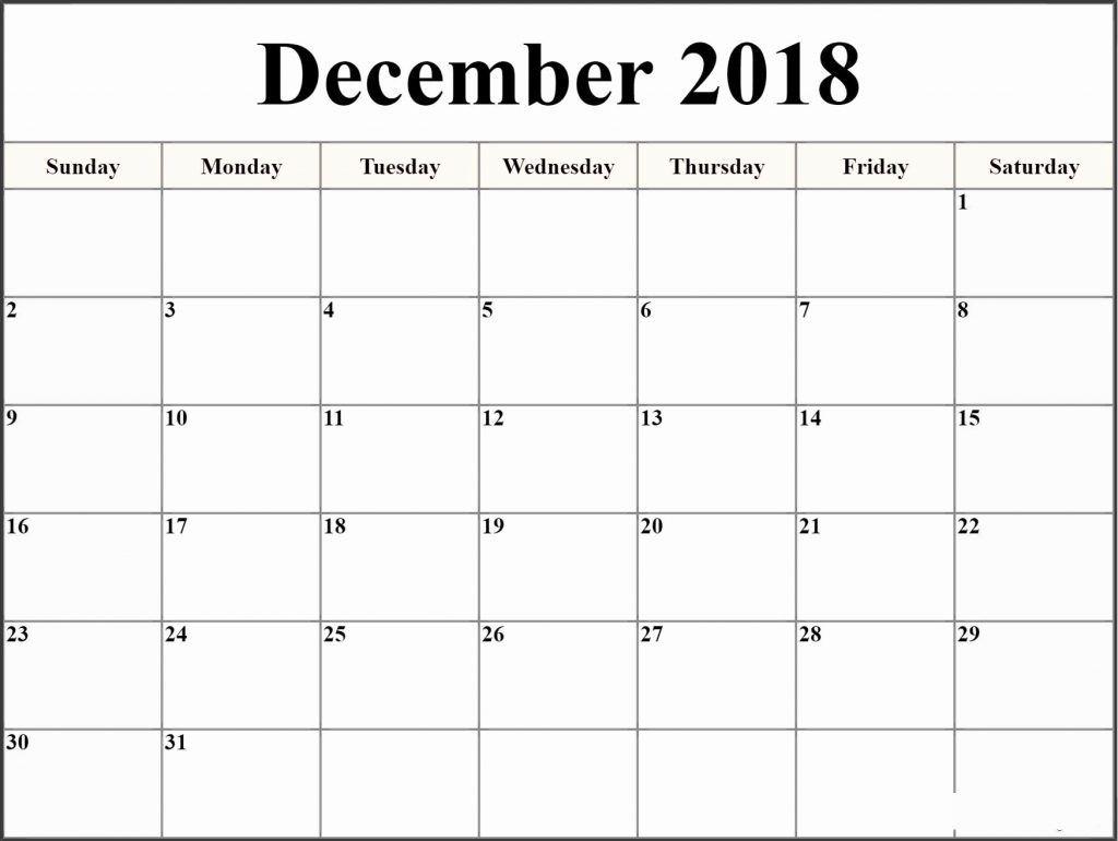 Blank Free Printable Calendar December By Month