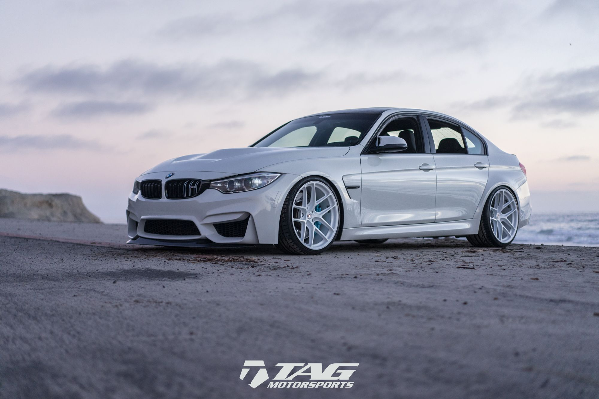 Alpine White Bmw F80 M3 On Hre R101lw Wheels With Images