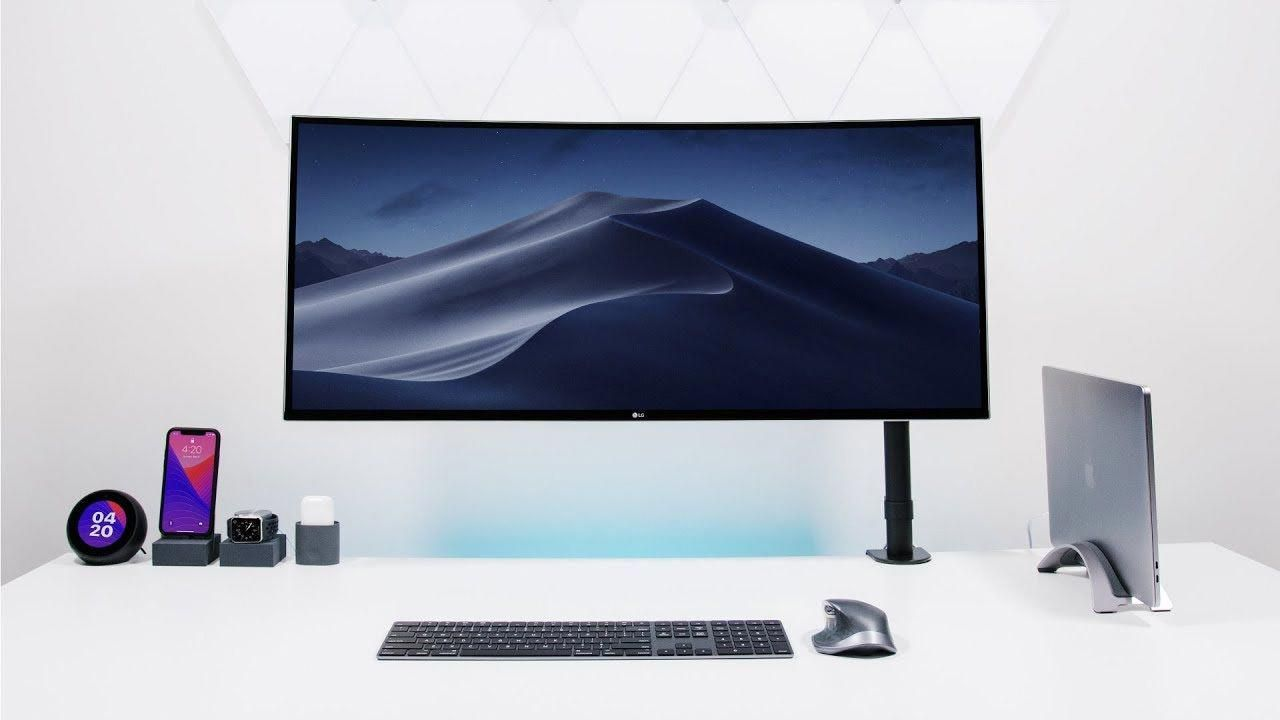 Apple Desk Setup Tour 2018 Going ULTRAWIDE! YouTube