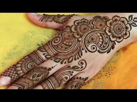 Quick And Easy Mehndi Henna Designs Beautiful Floral Mehndi