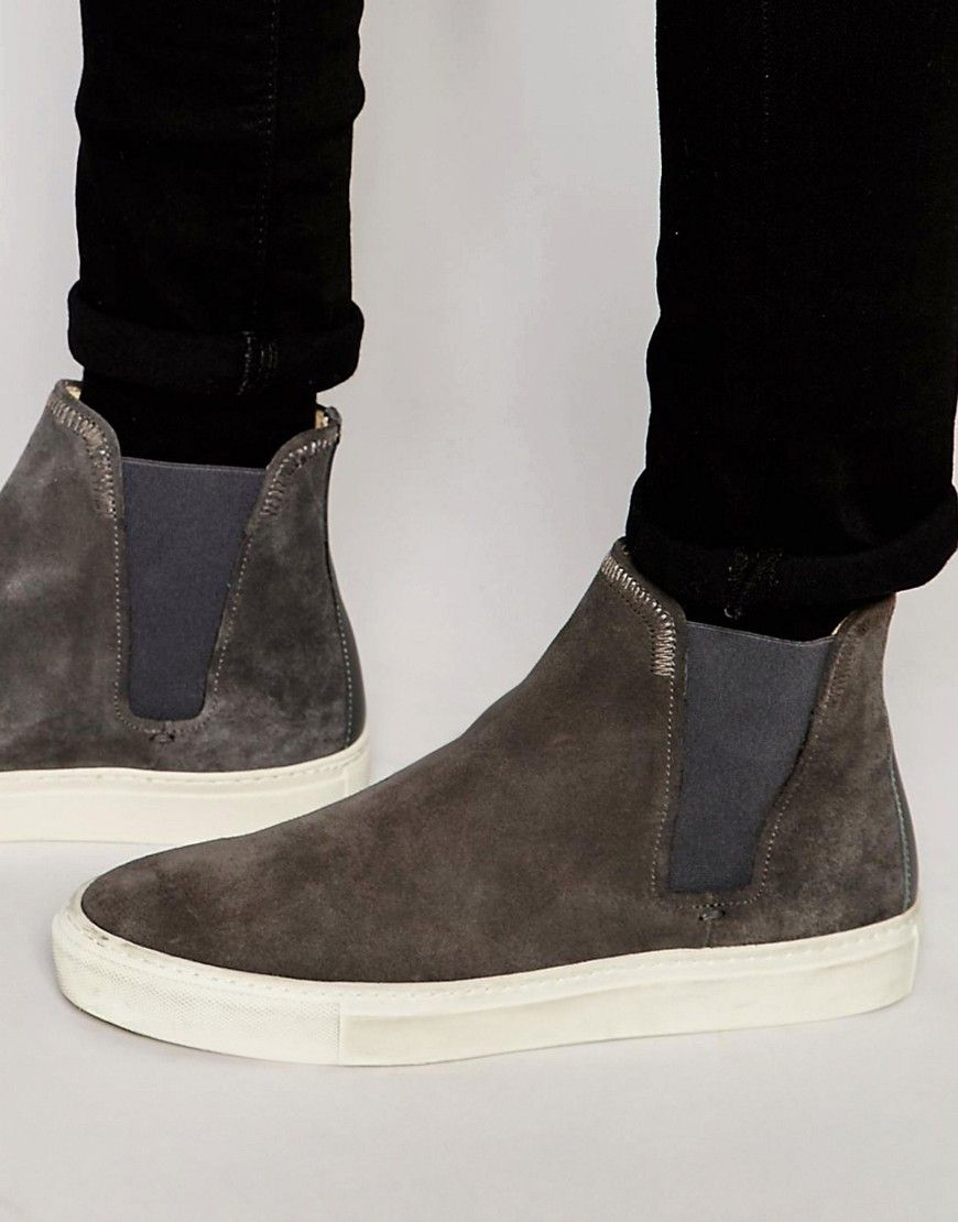 Hudson London Suede Chelsea Trainers at