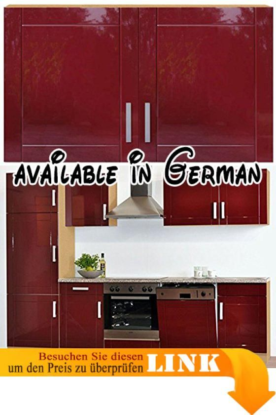 B005LUTGYA : Küchen Doppelschrank in Rot Pharao24. Pharao24 ...