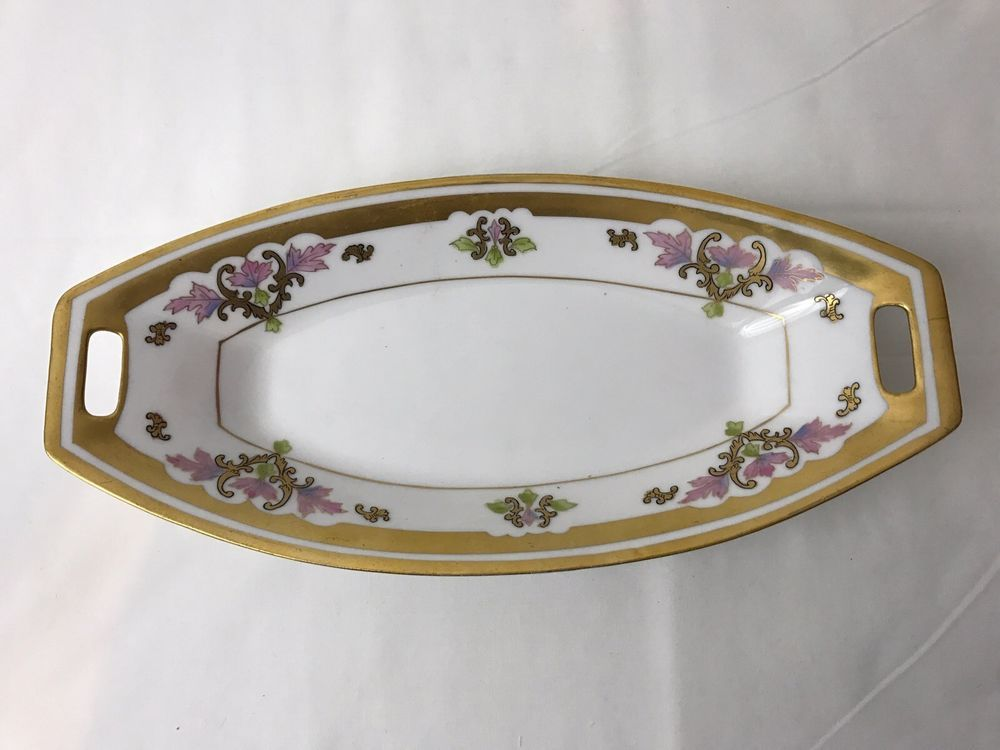 Pickard China \u0026 Dinnerware | eBay & Antique Pickard China Bread Plate Dish 1910 Gilded Hand Painted ...