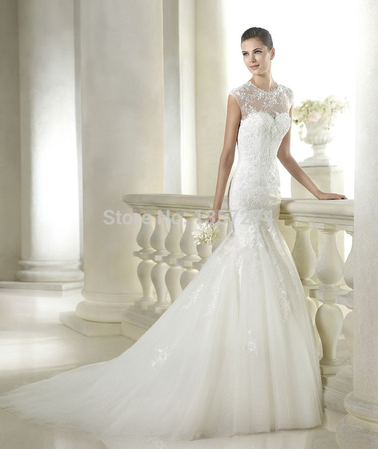 Turtle Neck Bridal Gown_Other dresses_dressesss