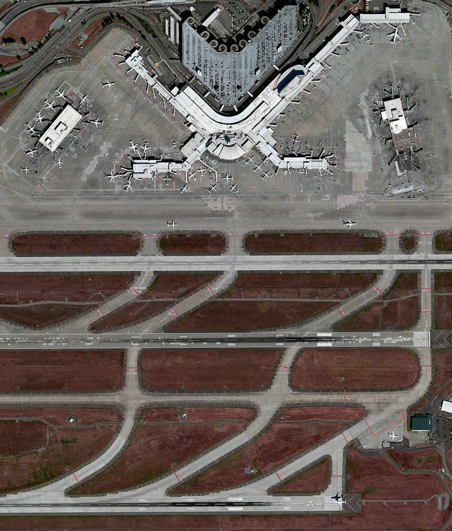 Norfolk, Virginia, US International airport, Aerial view