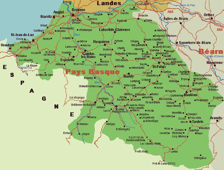 Resultat De Recherche D Images Pour Carte Pays Basque Carte