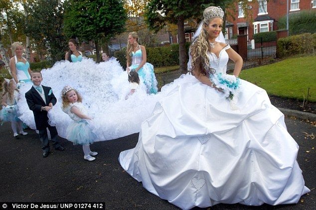 big and bold the girls take great pride in their lavish wedding dresses