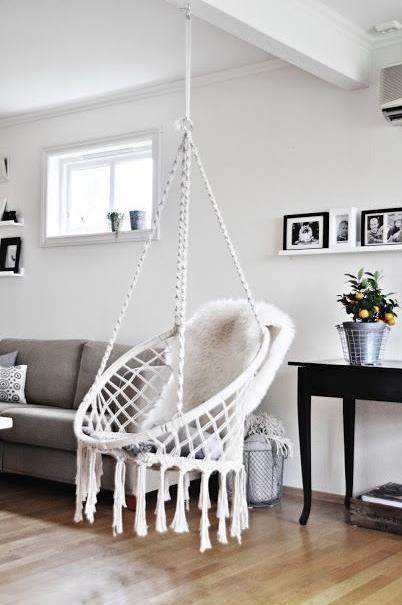 Hang Loose, Brah | Lofty Living | Macrame Hanging Chair, Macrame Chairs,  Swinging Chair