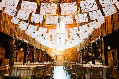 WEDDING-THEME-MEXICAN-HANDCUT-PAPEL-PICADO-FIESTA-PARTY-BUNTING-5m-WHITE-PAPER