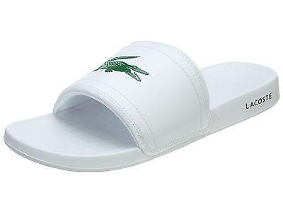 Lacoste Fraisier Slide Mens 7-29SPM0057-082 White Sandals Slides Slippers  Sz 10 Lacoste fbe68cdb2