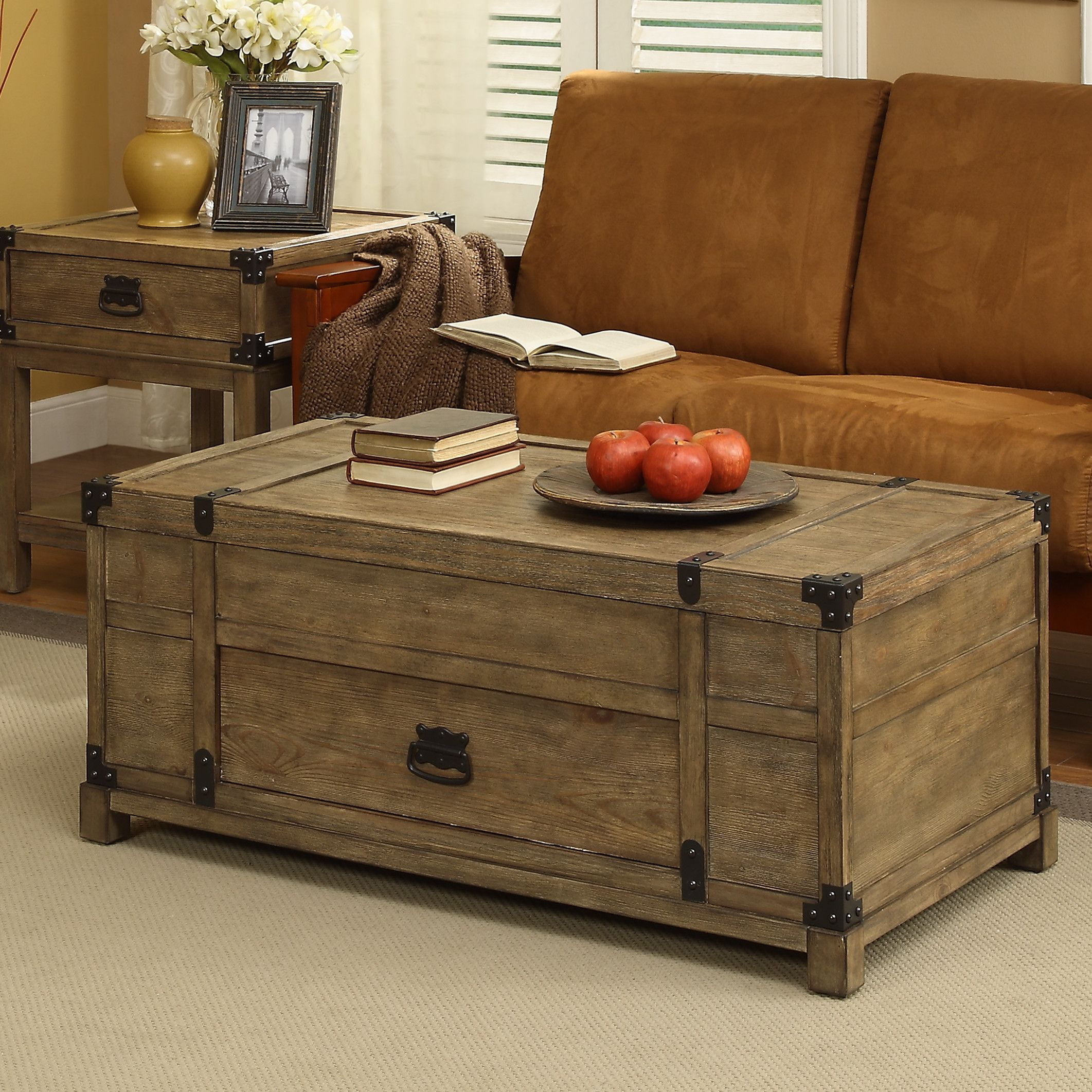Lift Top Chest Coffee Table 10