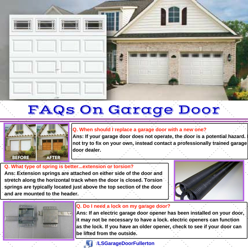 Ls Garage Door Is Representing Some Faqs On Garage Door To Get Professional Assistance Call 1 714 878 5928 Garage Doors Garage Service Door Doors