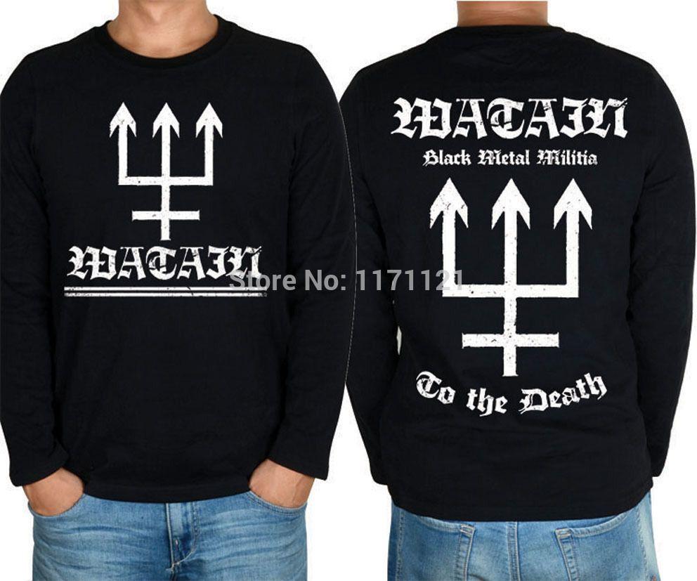 Hoodie embroidery Watain Black Metal Militia PbxR4