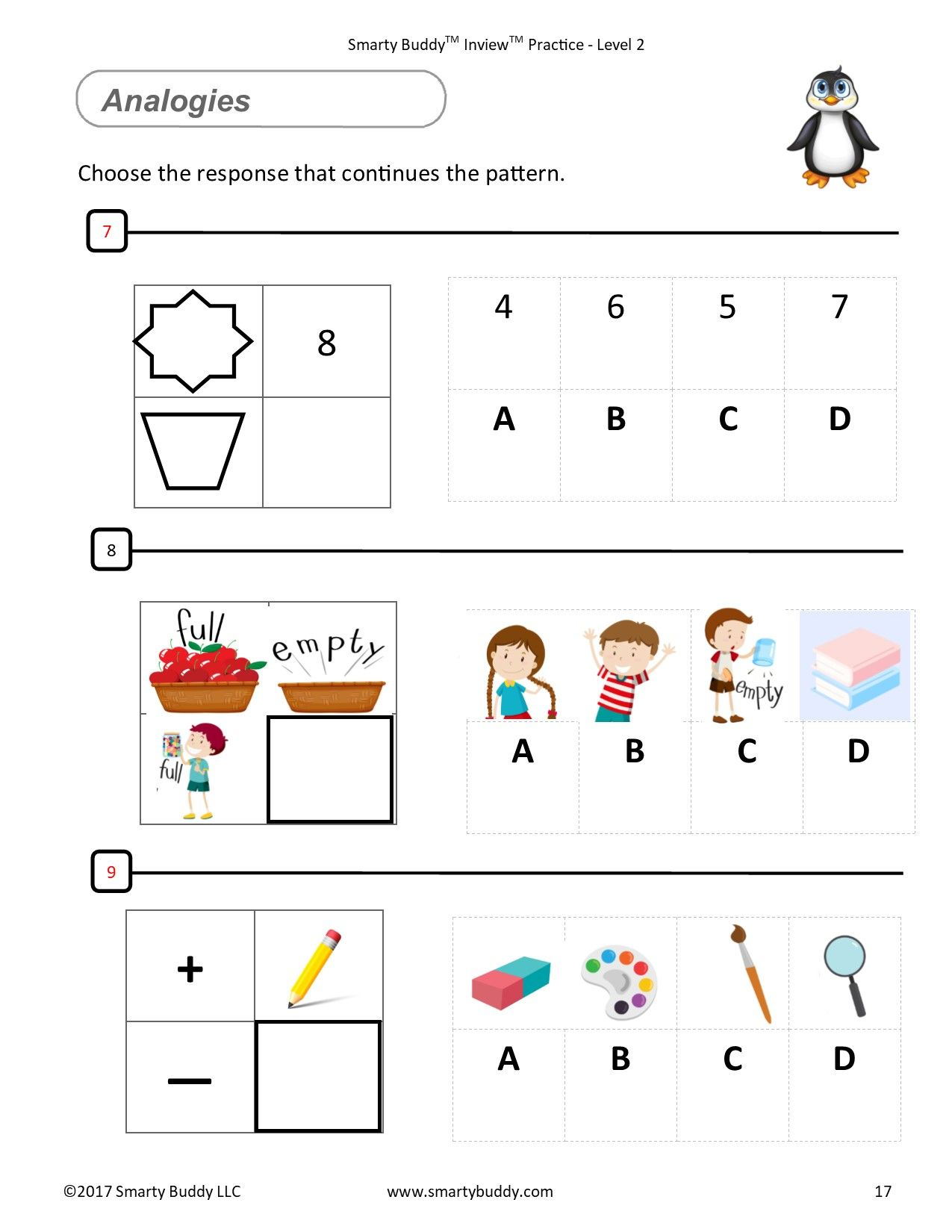 Smarty Buddy Logic Gifted And Talented Kids Worksheets And