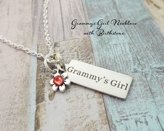 Granddaughter Gift Grammys Girl Necklace For Birthday Grandmother