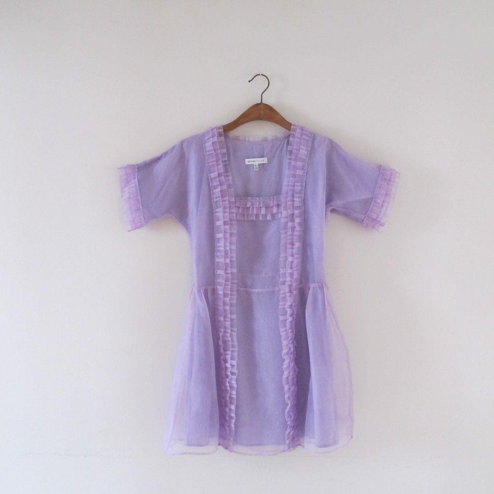 GEMAS´C CLOSET SEE BY CHLOÉ ORGANZA DRESS