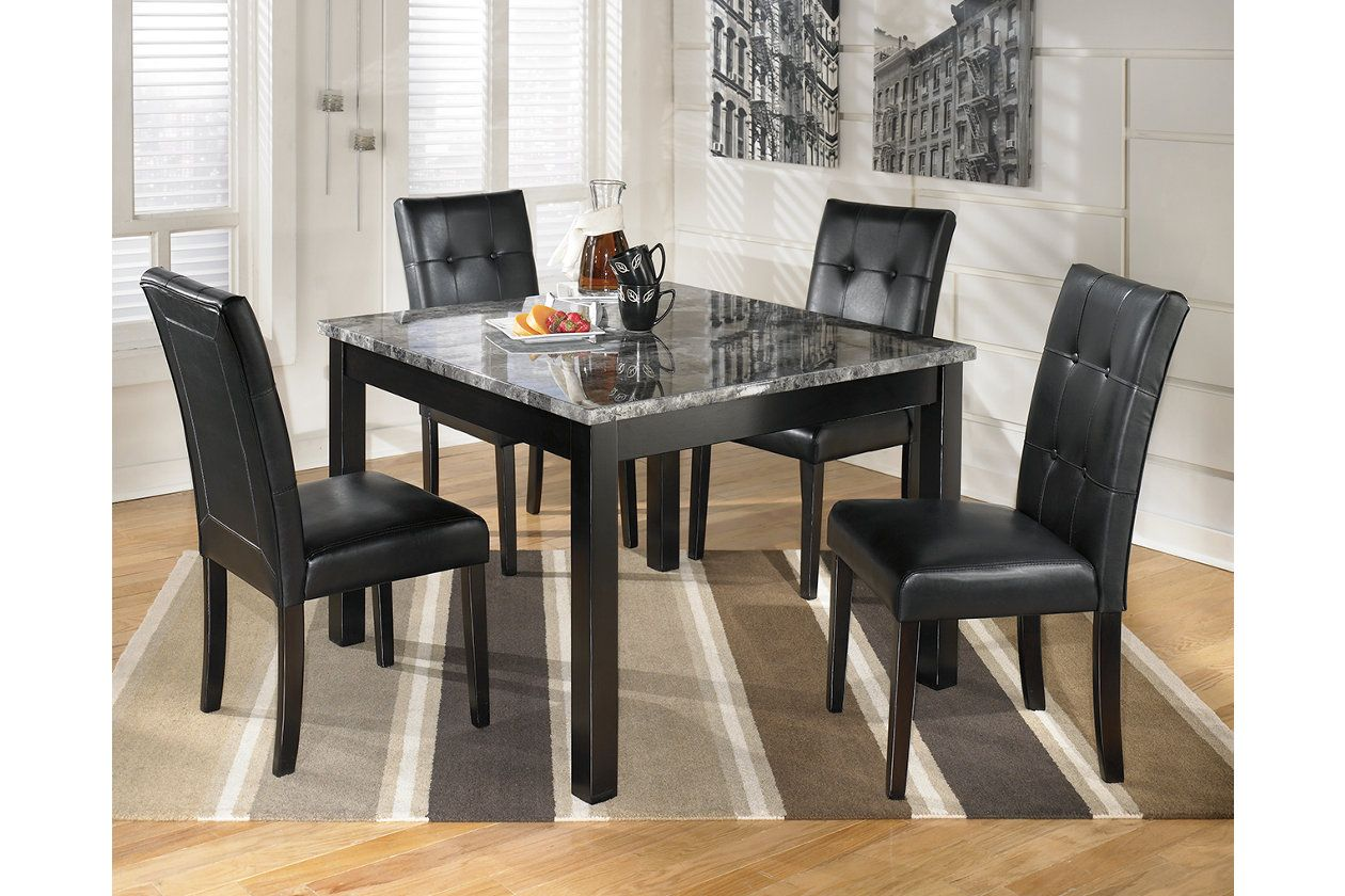 Maysville Dining Room Table And Chairs Set Of 5 Ashley Furniture Homestore Marble Top Dining Table Dining Room Table Set Square Dining Table Set