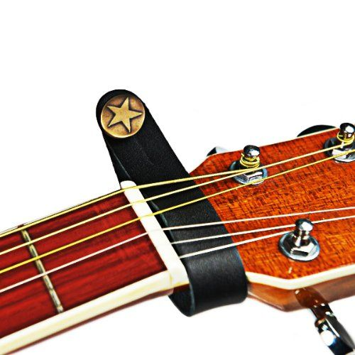Guitar Strap Button Holder For Acoustic Black Genuine Leather With Strong Metal Fastener Repla Acoustic Guitar Strap Leather Guitar Straps Guitar Accessories