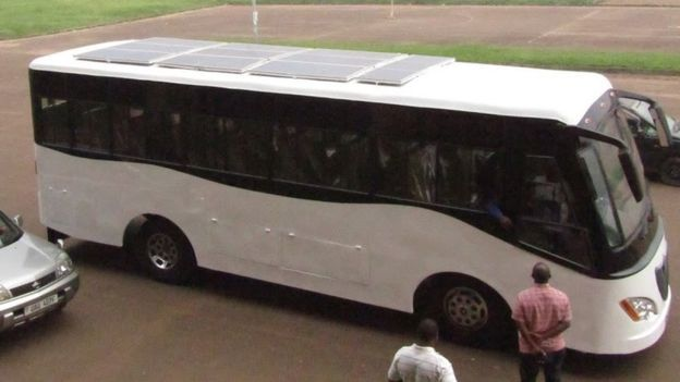 Uganda S Kiira Motors Unveils Africa S First Solar Bus Solar Bus Solar Power