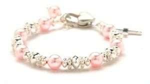 Baptism Gift Ideas for Girls Pink Pearl Christening Bracelet