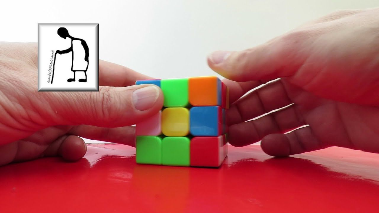 Grandad Plays With A Rubik S Cube 5 L1r2 Rubiks Cube Cube Puzzle Solving