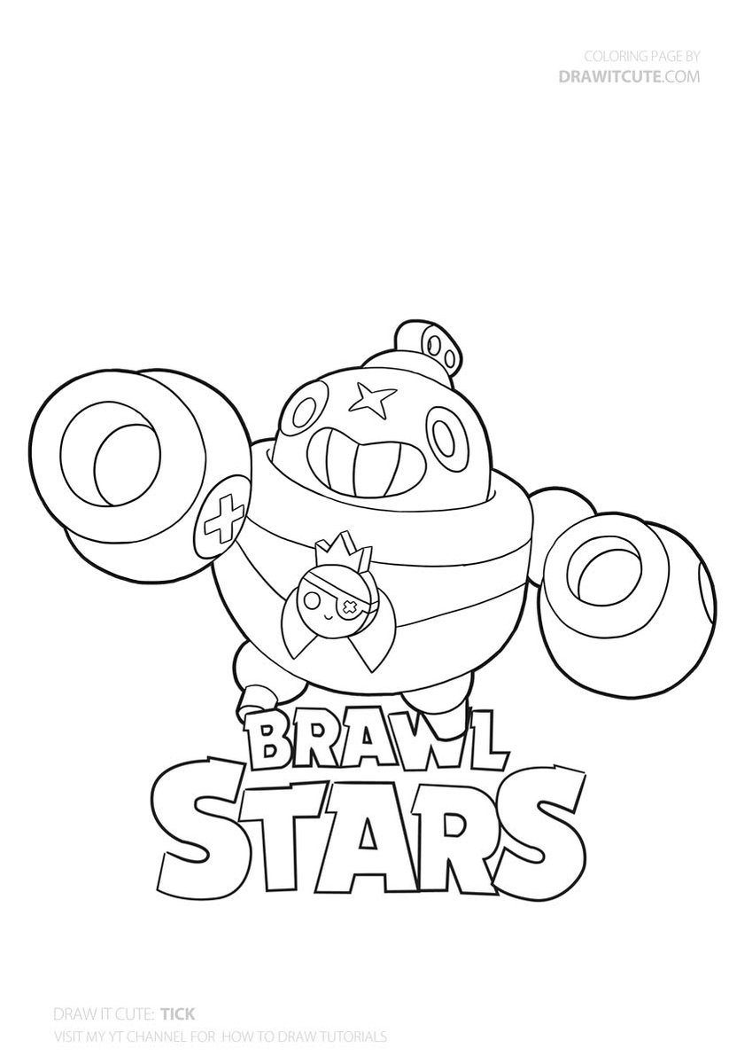 Tick Brawlstars Coloringpages Drawingtutorial Howtodraw Fanart Star Coloring Pages Coloring Pages Brawl