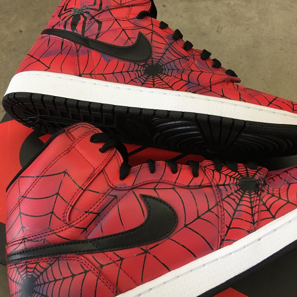 f8350f11b76 Jordan 1 Retro Nike Sneakers - Spiderman
