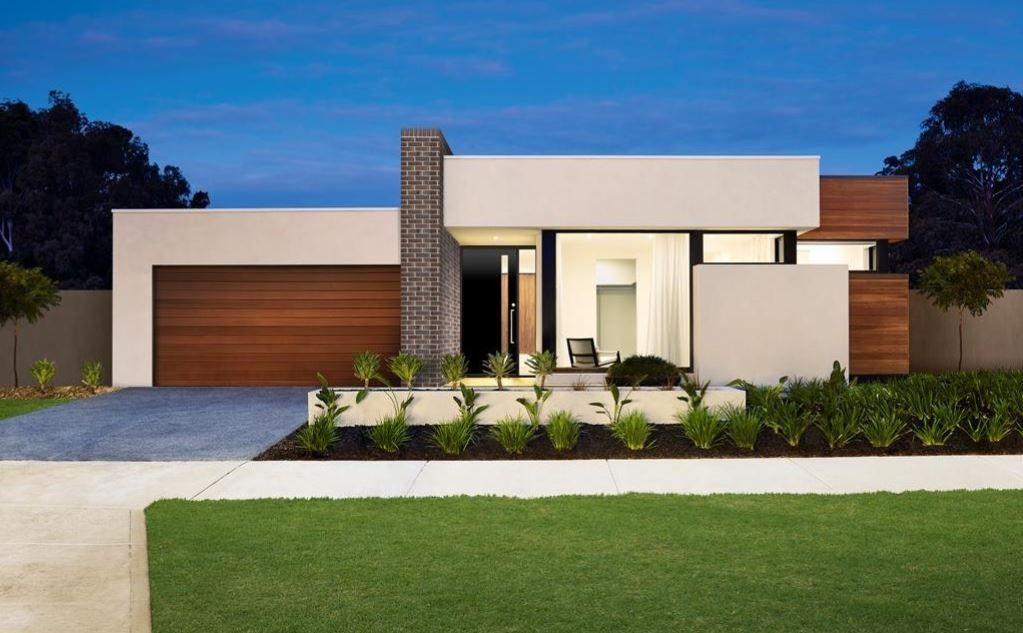10 Hermosas fachadas de casas de una planta Fachadas de