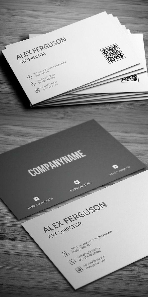 Minimal Business Card Template Zeichnungen Minimal