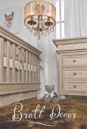Gorgeous neutral nursery with contemporary elegance #driftwood-crib #nursery, #brattdecor #changing-table #sheepskin rug #neutral-nursery