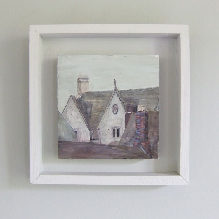 John Hainsworth -   Bingham, Dyer Street  Oil and Acrylic on Aluminium  10cm x 10cm