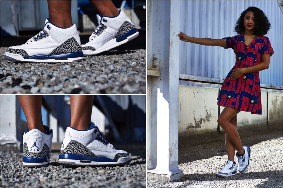 "2fb37c55761f ON-FOOT LOOK  TBT EDITION    AIR JORDAN 3 ""TRUE BLUE"""