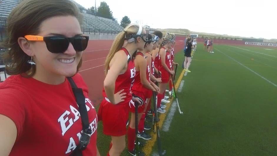 Katie McReynolds supporting East Field Hockey vs. Smokey