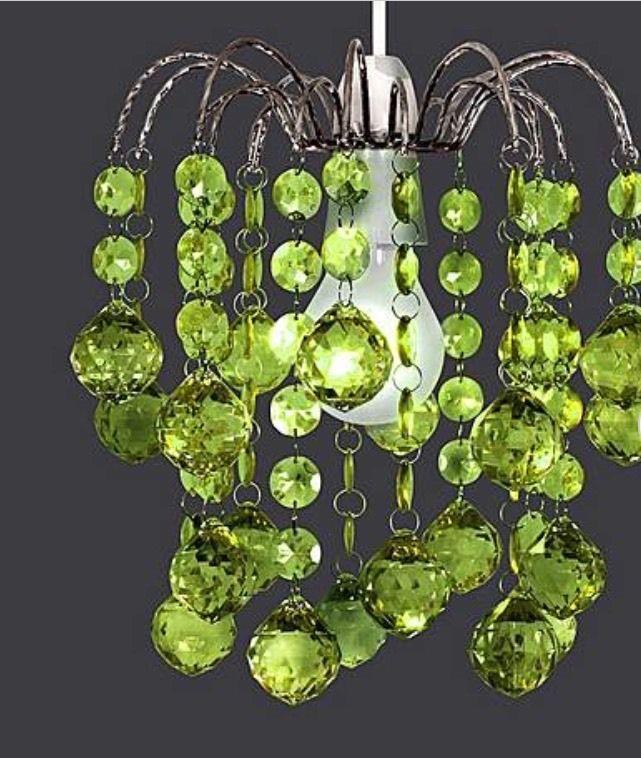 ORIEL BALL DROP CEILING PENDANT LIME GREEN LIGHT SHADE EASY FIT CHANDELIER  | EBay