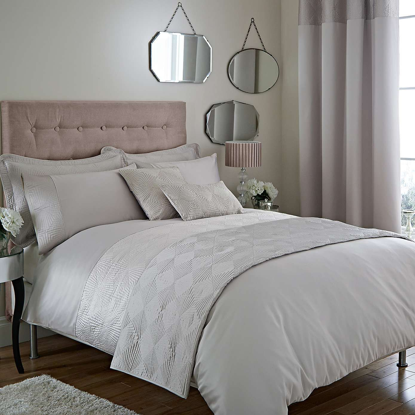 Silver Curtains For Bedroom Silver Roma Damask Bed Linen Collection Dunelm Master Bedroom