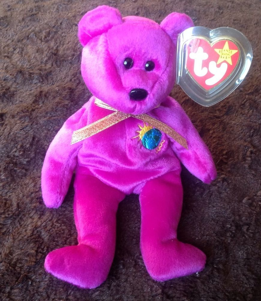 c419ba8e707 TY Beanie Babies MILLENNIUM Millenium VERY RARE 4 ERRORS Mint Limited Tag  MWMT  Ty
