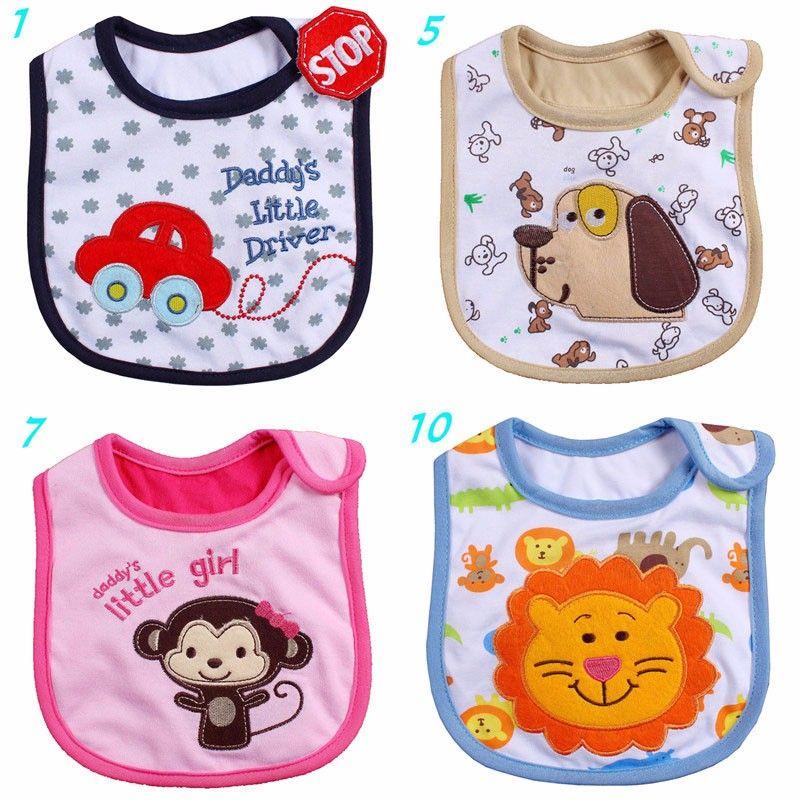 Boys' Baby Clothing Retail 0-3 Years Old Baby Girls Boys Bibs Newborn Burp Cloth Infant Saliva Towels Baby Dress Modeling Bib Waterproof Baby Bibs