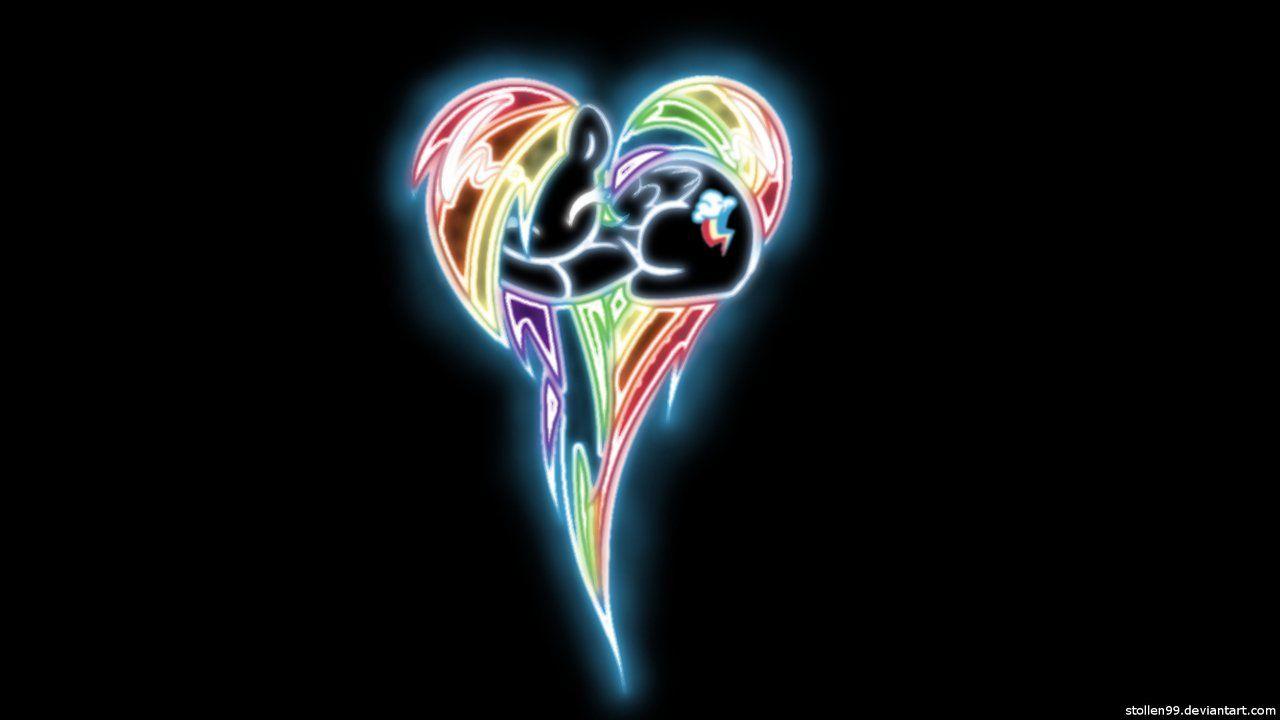 Rainbow Dash Heart Pony Glow Wallpaper by Stollen99deviantartcom