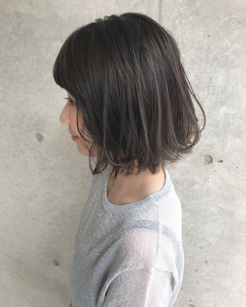 暗めヘアカラー ブルーグレージュは透明感 ヌケ感 ツヤ感が魅力の13