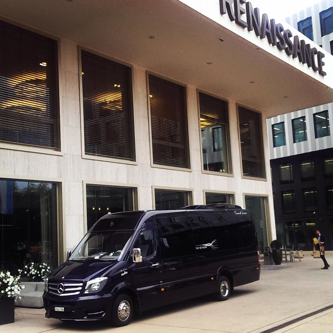 Edelswiss Mercedes Sprinter 16 Seater Luxury Edition Minibus At Renaissance Zurich Tower Hotel Businessasusual