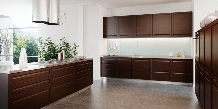 diseño de cocina moderna en blanco y madera | DECORACIÓN | Pinterest ...