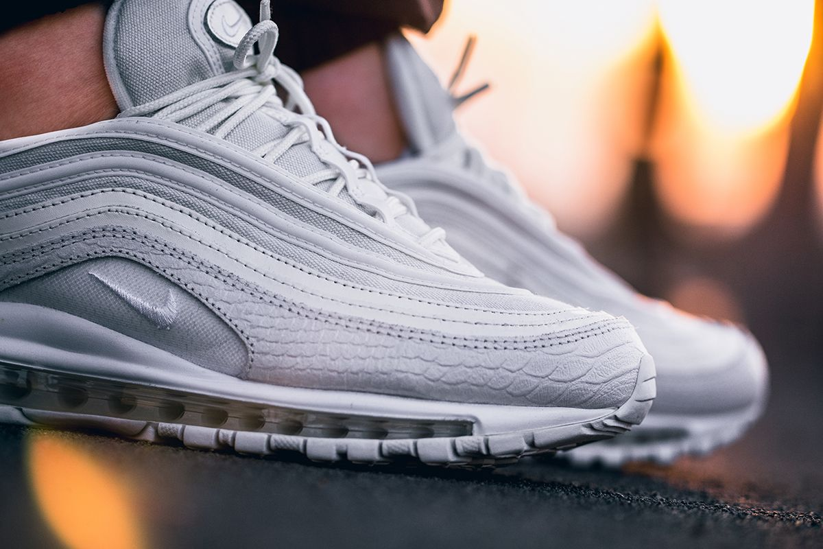"new arrival 029c7 8c651 On-Foot  Nike ""Summit White Snake"" Air Max 97"